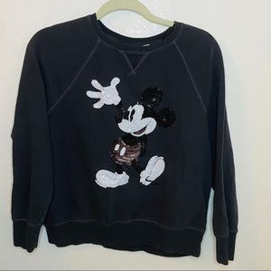 L.O.G.G.  Black and White Mickey Mouse Sweatshirt